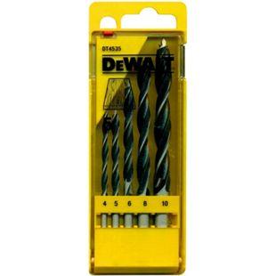 5tlg. DeWalt Holz Spiralbohrer Set DT4535 CV Bohrer Ø 4 5 6 8 10 mm Werkzeug - Bild 1