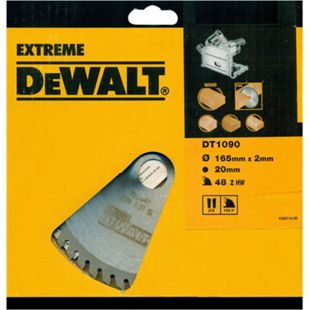 DeWalt Extreme Tauchkreissägeblatt DT1090 Holz Sägeblatt Ø165mm Kappsäge - Bild 1