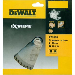 DeWalt Extreme Tauchkreissägeblatt DT1086 Holz Sägeblatt Ø165mm Kappsäge - Bild 1