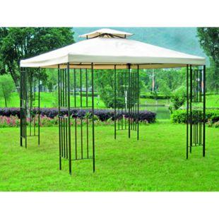 Garden Pleasure Pavillon 3x3m Stahl Gartenzelt Partyzelt Garten Zelt Überdachung - Bild 1
