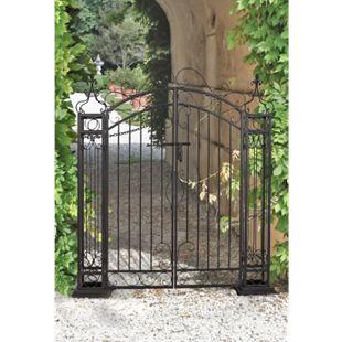 Garden Pleasure Stahl Pforte Zaun Garten Eingang Tor Edel Rost Antik Optik - Bild 1