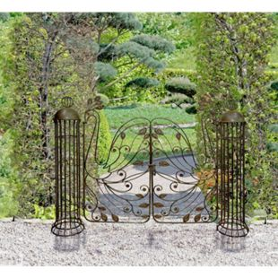 Stahl Pforte Tor Eingang Gartenpforte Tauntor Gartentor Gartenzaun Antik Optik - Bild 1