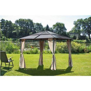 Design Pavillon Stahl Gartenzelt Partyzelt Garten Zelt Überdachung Sonnenschutz - Bild 1
