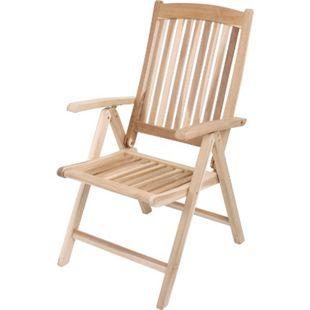 Garden Pleasure Teak Hochlehner Java Holz Garten Stuhl Sessel Möbel klappbar - Bild 1