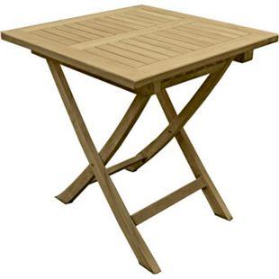 Garden Pleasure Teak Gartentisch Solo 70x70 Garten Holz Esstisch Tisch klappbar - Bild 1