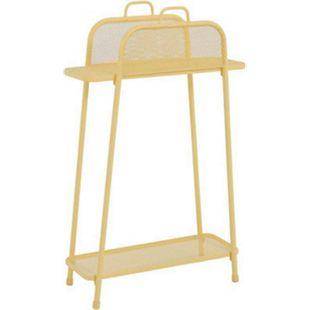 Metall Balkonregal gelb Balkon Garten Terrasse Regal Standregal Möbel Tisch - Bild 1