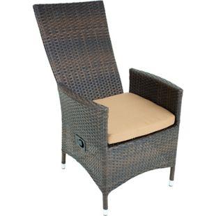 Garten Sessel verstellbar Stuhl Stühle Hochlehner Terrasse Möbel coffee - Bild 1