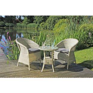 Garden Pleasure Tischgruppe Garten Tisch Sessel Stuhl Sitzgruppe Rattan Optik - Bild 1