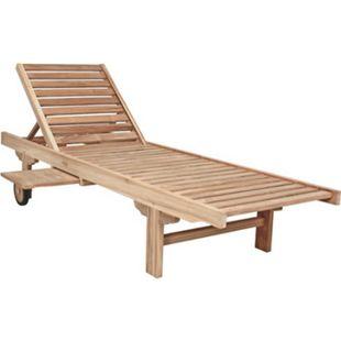 Garden Pleasure Teak Sonnenliege Solo Gartenliege Relaxliege Garten Holz Liege - Bild 1