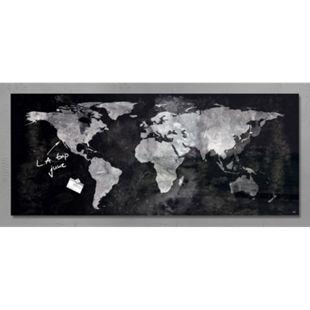 Sigel Glas Magnet Board GL246 130x55 Magnettafel Tafel Pinnwand Weltkarte - Bild 1