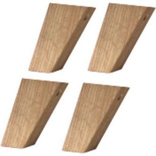Fuß-Set 1 - hoch Föhr Massivholz Navarra Füße Fuß Schrankfüße Schrank - Bild 1