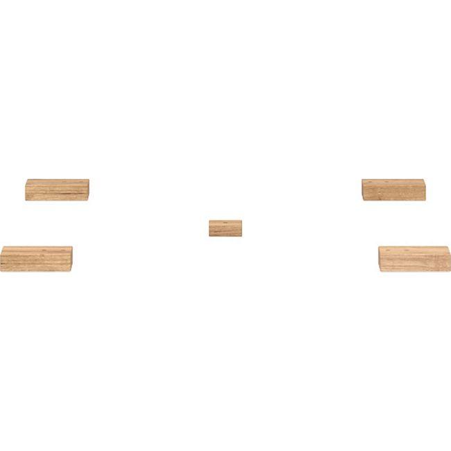 Fuß-Set 2 - flach Föhr Massivholz Navarra Füße Fuß Schrankfüße Schrank - Bild 1