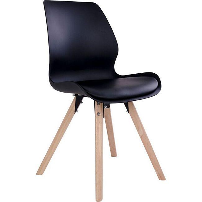 2 x Designerstuhl RIE schwarz Schalenstuhl Esszimmerstühle Stuhl