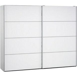 Kleiderschrank VERONA mit 2 Türen in weiß Schwebetürenschrank Schiebetürenschrank - Bild 1