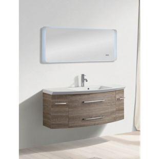 LED Lichtspiegel 100x50 Touch Badezimmer Bad Spiegel Digitaluhr Wandspiegel - Bild 1