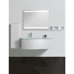 Design LED Lichtspiegel 80x60cm Touch Badezimmer Bad Spiegel Wandspiegel - Bild 1