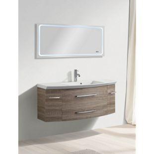 LED Lichtspiegel 120x60 Touch Badezimmer Bad Spiegel Wandspiegel Digitaluhr - Bild 1