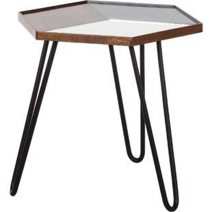 3D Beistelltisch Couchtisch Wohnzimmer Holz Spiegeltisch Tisch Mango Nachttisch - Bild 1
