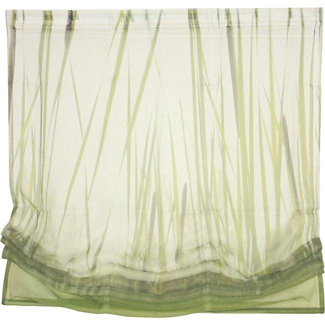 Heine Raffrollo 120x140 cm Fenster Rollo Plissee Fertigdeko Faltrollo grün - Bild 1