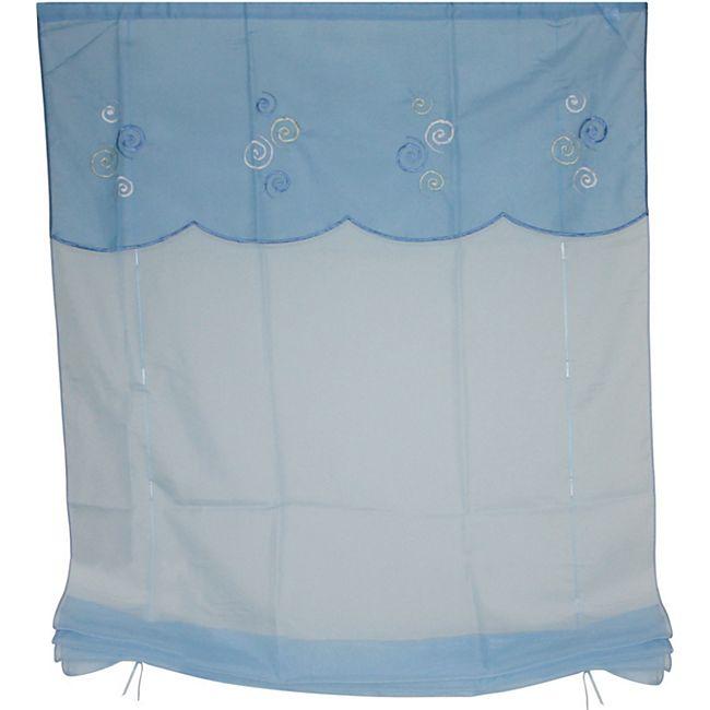 Heine Raffrollo 80x145 blau Fenster Deko Rollo Plissee Jalousie Fertigdeko - Bild 1