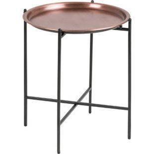 PKline Beistelltisch OSSI rund Kupferfarben Ecktisch Couchtisch Kaffeetisch - Bild 1