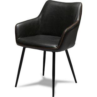 2x Esszimmerstuhl MARCIA in schwarz Küchenstühle Stuhlgruppe Stühle - Bild 1