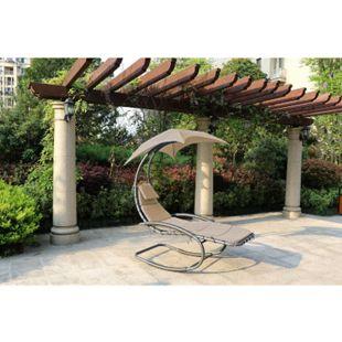 Schaukelliege KEROS Relaxliege Gartenliege Liege Garten Möbel + Dach+Kissen - Bild 1
