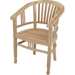 Gartenstuhl RINCA Gartensessel Gartenmöbel Garten Teak Stuhl Armsessel Sessel - Bild 1