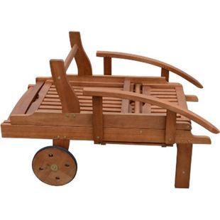 Sonnenliege Gartenliege Relaxliege Strandliege Liege Holz Holzliege Klappbar - Bild 1