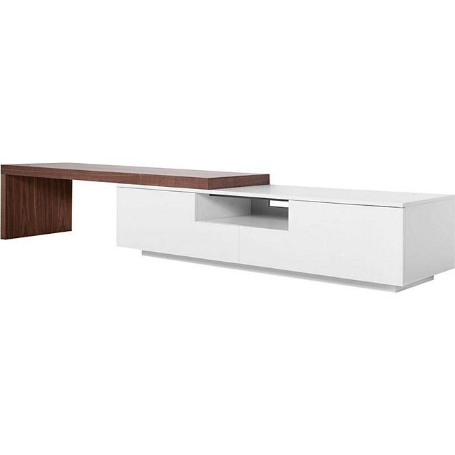 XXL TV Lowboard 3,90m Sideboard Fernsehschrank Schrank Kommode Fernsehtisch weiß - Bild 1