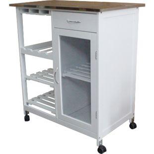 Küchenwagen Servierwagen Rolltisch Arbeitsplatte Küche Rollwagen Beistelltisch - Bild 1