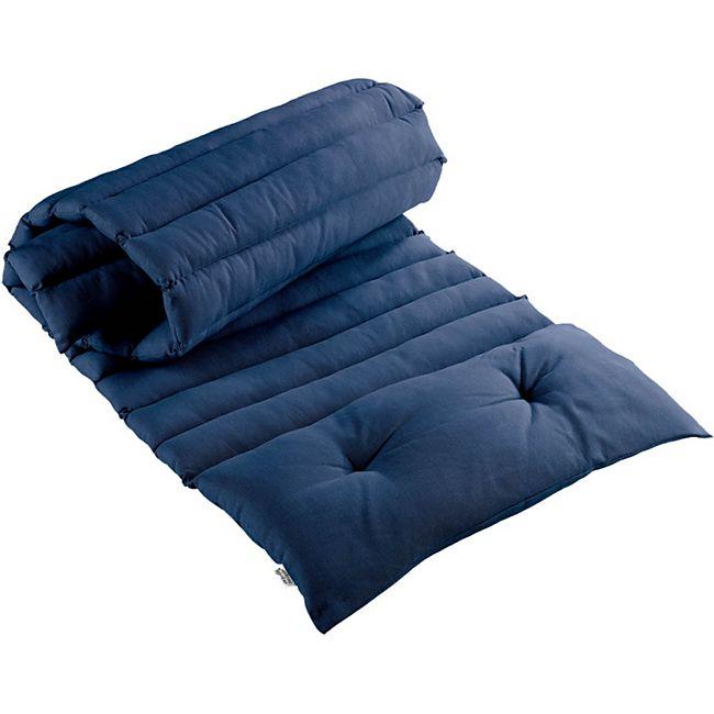 Premium Liegenauflage Baumwolle Blau - Bild 1
