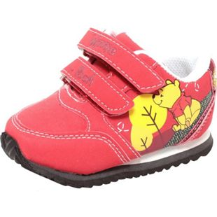 Disney Babyschuhe Lauflerner Sneaker mit Klettverschluss WINNIE THE POOH rot - Bild 1