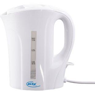 Elta Wasserkocher 1 Liter WK-1000 Teekocher Wasser Tee weiß 1000 W - Bild 1