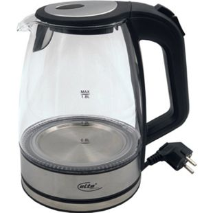 Elta Glas LED Wasserkocher 1,8 L Edelstahl Teekocher Wasser Tee kabellos 2200W - Bild 1