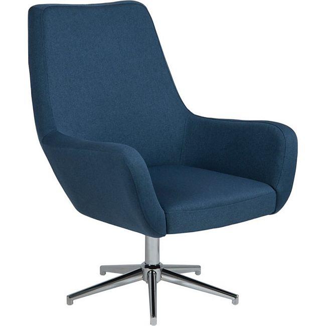 Sessel RYSE Clubsessel Loungesessel Stuhl Sitzmöbel dunkelblau - Bild 1