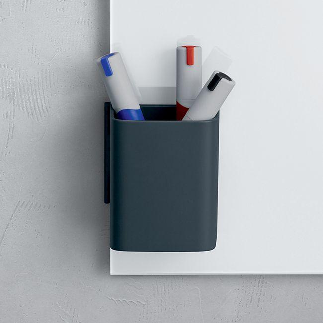 Sigel Stifteköcher S GL801 für Glas Magnetboard Stiftablage Stiftehalter anthrazit - Bild 1