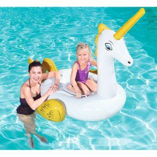 Bestway XL Einhorn Unicorn Rider 165x145cm  Schwimmtier Wasserspielzeug Pool - Bild 1