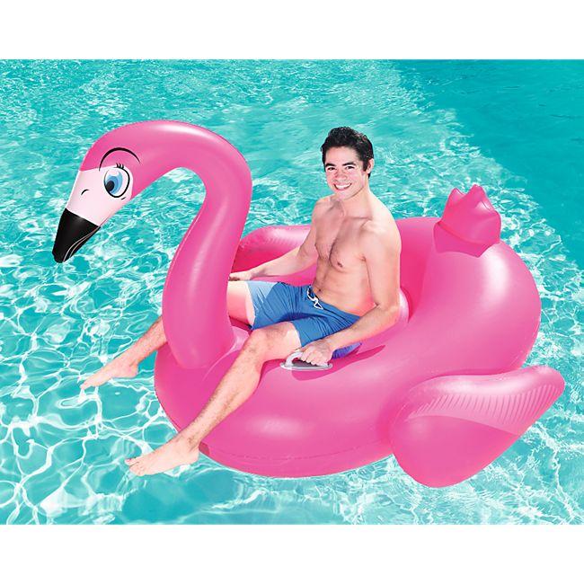 Bestway XXL Flamingo Schwimmtier 175x173cm 90kg Schwimmtier Wasserspielzeug Pool - Bild 1