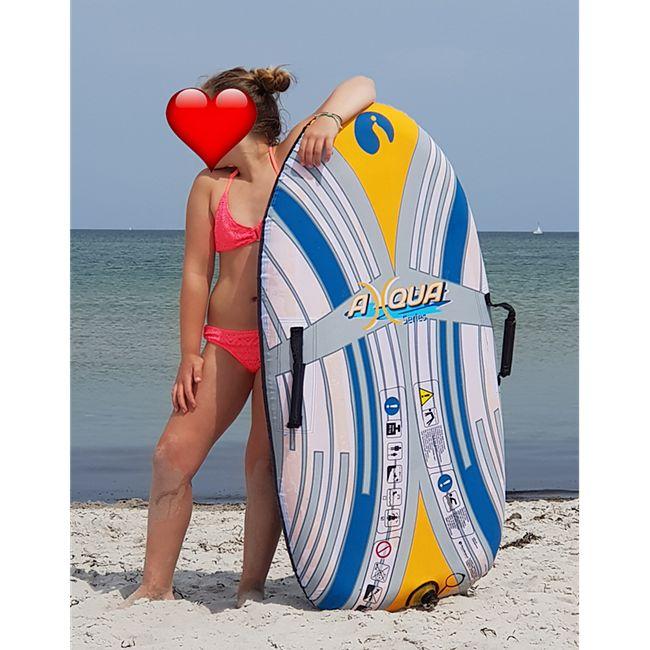 Bodyboard 120cm aufblasbar Schwimmbrett Surfbrett Luftmatratze Boogie Wave Board - Bild 1