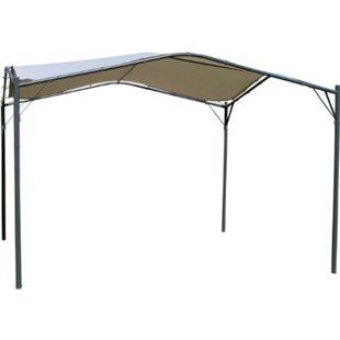 LECO Pavillon 350x350cm Terrassen Garten Überdachung Sonnenschutz Zelt Möbel - Bild 1
