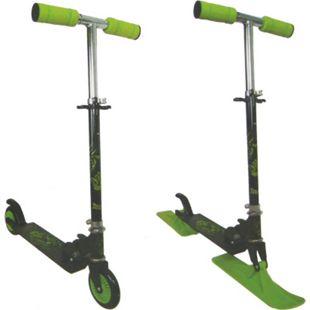 2in1 Scooter Schlitten Roller 120 mm Rollen Tretroller Cityroller ABEC 5 Carbon - Bild 1