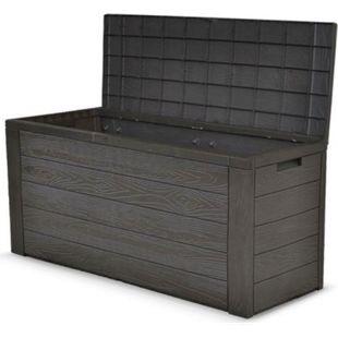 Auflagenbox Holz Optik Gartenbox Gartentruhe Auflagen Kissenbox Gartentruhe - Bild 1