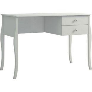 Schreibtisch CHER 2 Schubladen Arbeitstisch Schminktisch Tisch weiß Landhaus - Bild 1