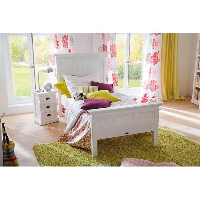 Holzbett HALIFAX weiß 90x200 Bett Jugendbett Kinderbett Tagesbett Landhaus - Bild 1