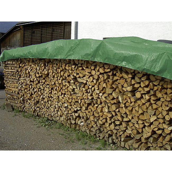 Universal Abdeckplane Holz XXL 1,5 x 12m 100% wasserdicht Plane Holz Kaminholz - Bild 1