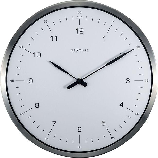 NeXtime Wanduhr 60 MINUTES Ø33cm lautlos Wohnzimmer Esszimmer Quarz ...