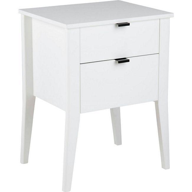Pkline Nachttisch SLAM in weiß Nachtkonsole Nachtkommode Beistelltisch Nako - Bild 1