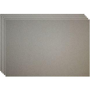 20 Blatt Graupappe 0,5mm Bastelpappe DIN A4/A5 Buchbinderpappe Pappe Graukarton - Bild 1