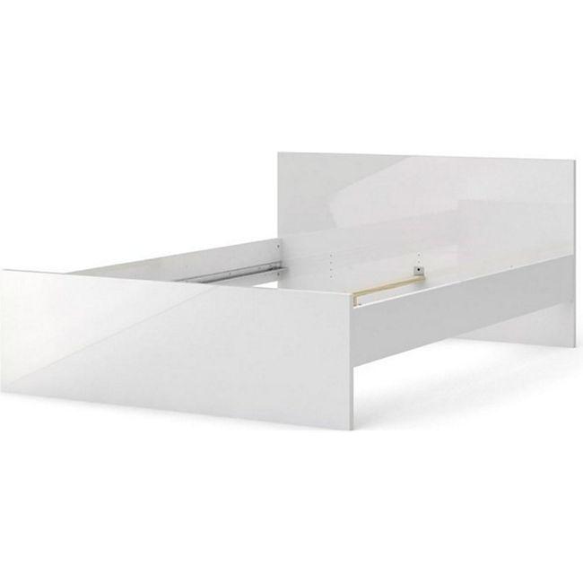 Doppelbett Nada Bettgestell Ehebett Bett Schlafzimmer 140x200 Weiss